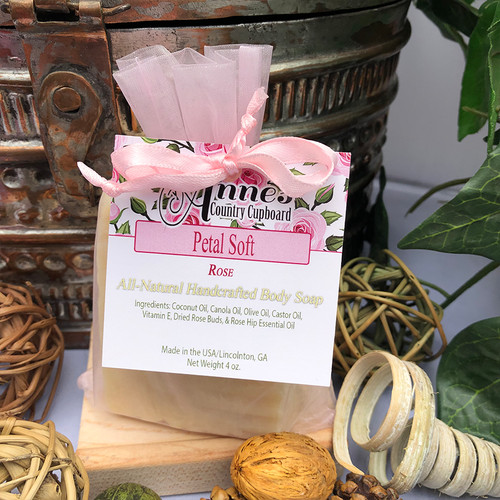 Petal Soft Rose, All Natural Body Soap