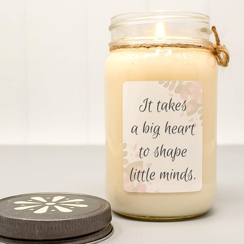 Teacher Appreciation Candle - It takes a big heart