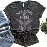 ad466166 Buy ROCK STAR MAMA tee- Drk Hthr Gry (MIN 10/DESIGN) from