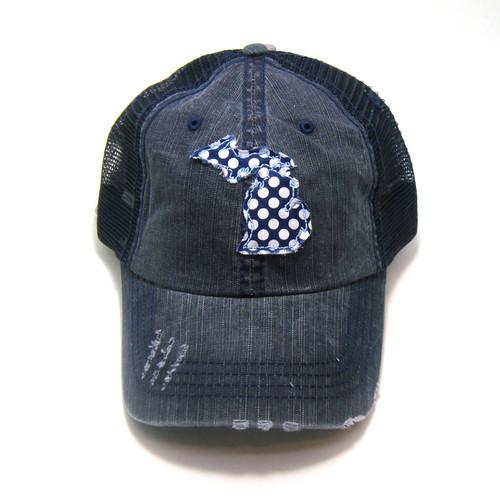 b765cb07f Michigan Distressed Trucker Hat - Fabric State