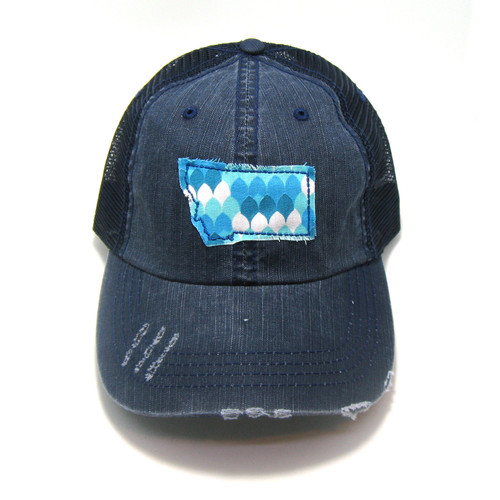 5de678c9ccd8c Buy Montana Distressed Trucker Hat - Fabric State from Gracie Designs  wholesale direct