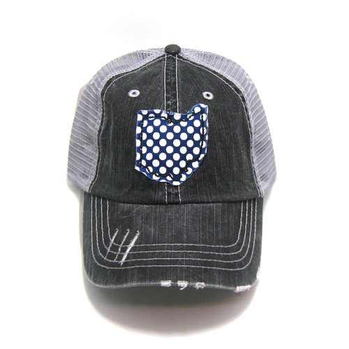22dd8d86cd311 Buy Ohio Distressed Trucker Hat - Fabric State from Gracie Designs  wholesale direct