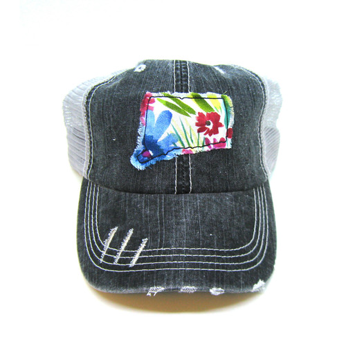 1ead24f793022 Buy Connecticut Distressed Trucker Hat - Fabric State from Gracie Designs  wholesale direct