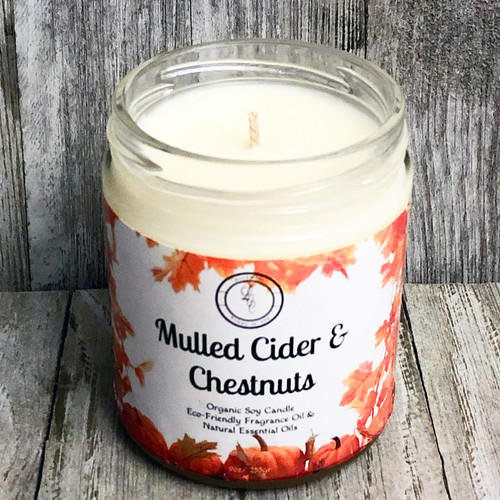 Mulled Cider & Chestnuts Organic Soy Candle (FALL)