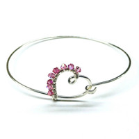 40d2c713cc4 Buy Pink Crystal Wire Wrapped Bangle - Sterling Silver from Lexi Butler  Designs wholesale direct