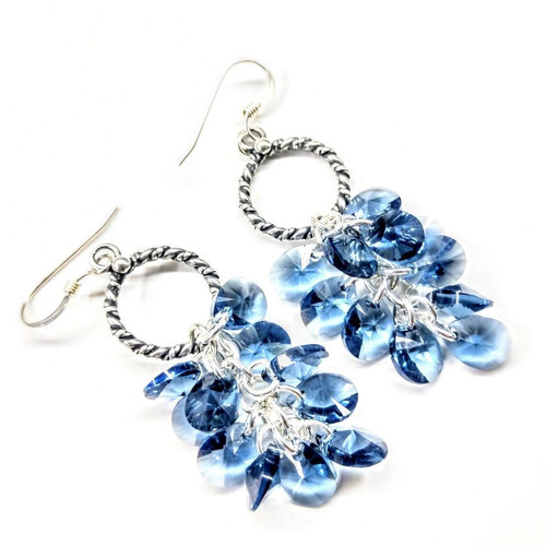17d30174c Buy Denim Blue Crystal Sterling Silver Cluster Earring from Lexi Butler  Designs wholesale direct