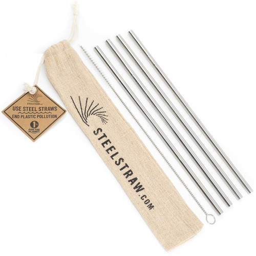 de38550a81b1 Buy Straight Metal Straws Gift Set from Steel Straw wholesale direct