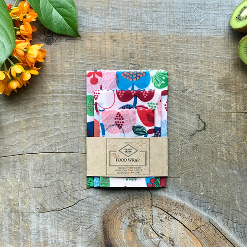 Organic Beeswax Wrap Pack of 3| Apples
