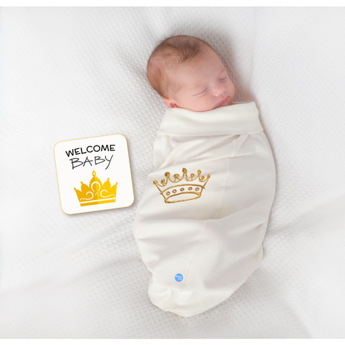 Wholesale Babyjoe Crown Baby Cocoon Swaddle Set And