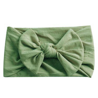 ecc000113 Buy Olive Green Wide Nylon Baby Headband from Emerson and Friends wholesale  direct